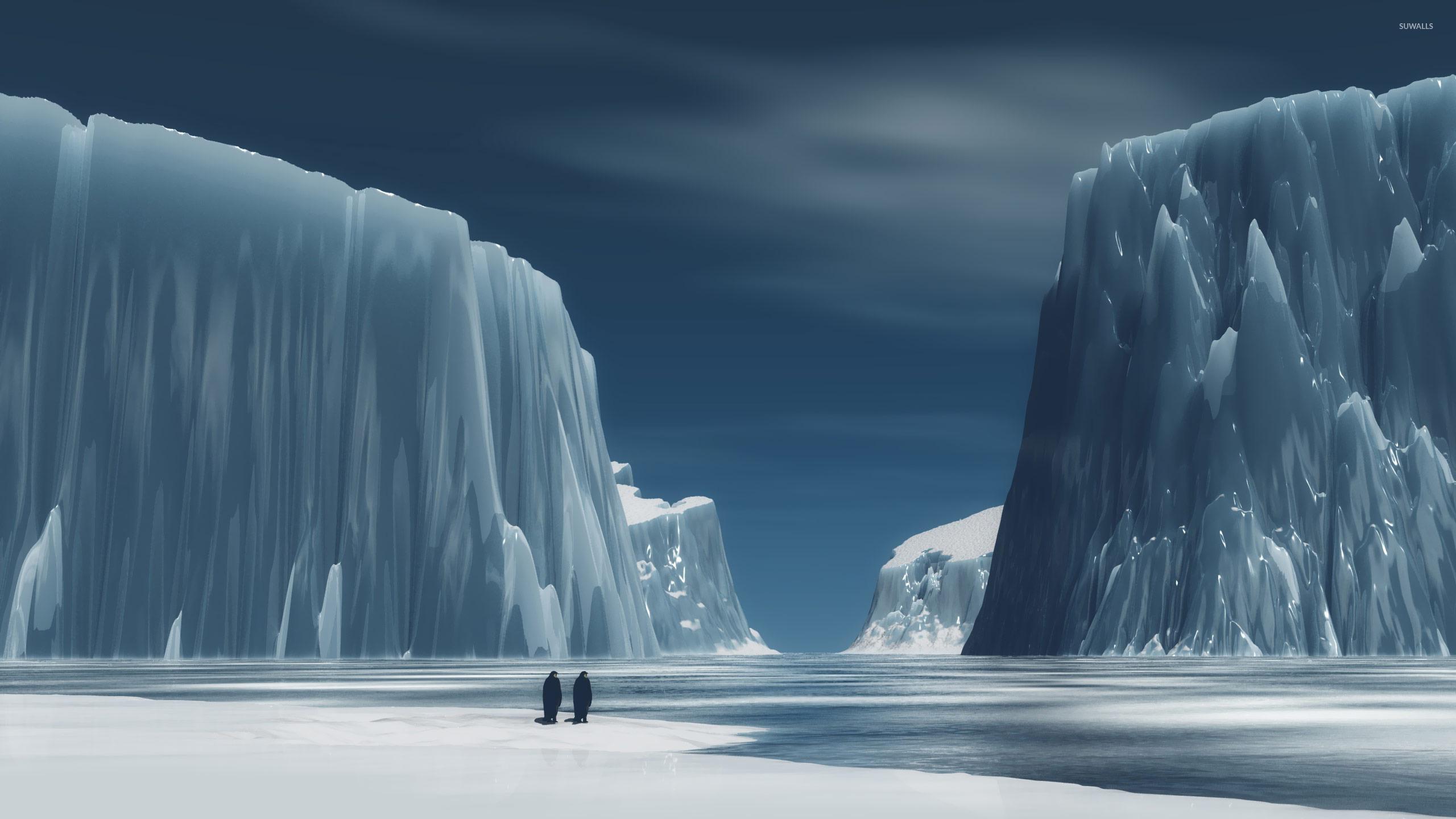 Penguins in antarctica wallpaper digital art wallpapers for Where to go in antarctica