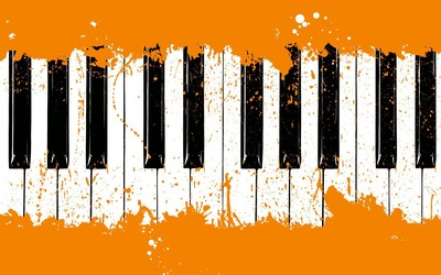 Piano keyboard wallpaper