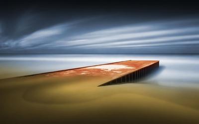 Pier to the ocean wallpaper