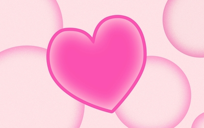 Pink bubbles by the pink heart wallpaper