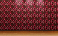 Pink floral wall pattern wallpaper 1920x1200 jpg