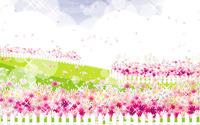 Pink flower garden wallpaper 1920x1200 jpg