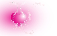Pink heart chained in the flowers wallpaper 1920x1200 jpg