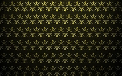 Pirate flag pattern wallpaper