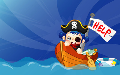 Pirate in need of help wallpaper