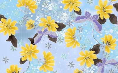 Purple butterflies wallpaper