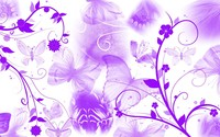 Purple butterflies and swirling flowers wallpaper 1920x1080 jpg