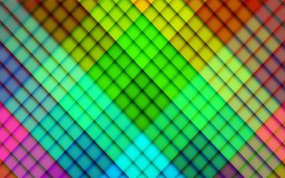 Rainbow diamond pattern wallpaper