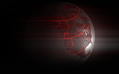 Red lines on Earth wallpaper