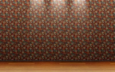 Retro circle wall pattern wallpaper