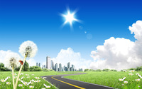 Road to the city wallpaper 1920x1200 jpg