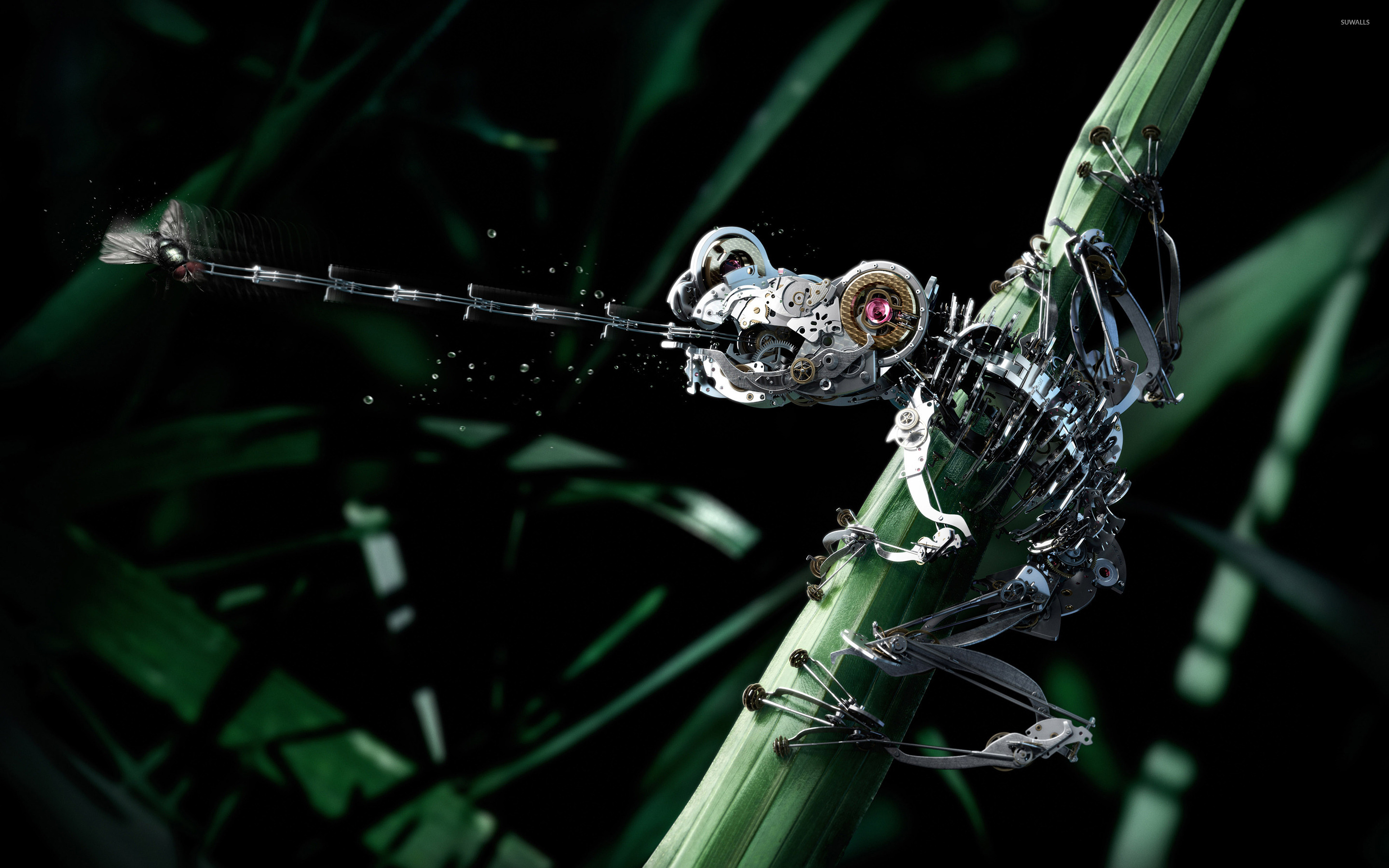 Robot Frog Wallpaper