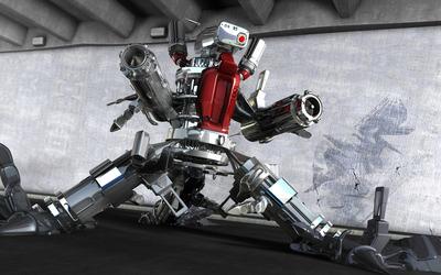 Robot in warehouse Wallpaper