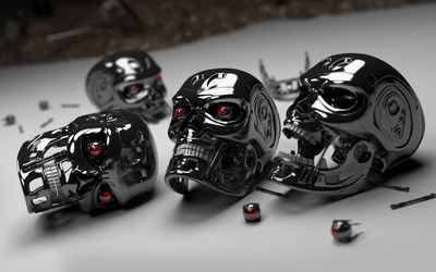 Robot skulls wallpaper