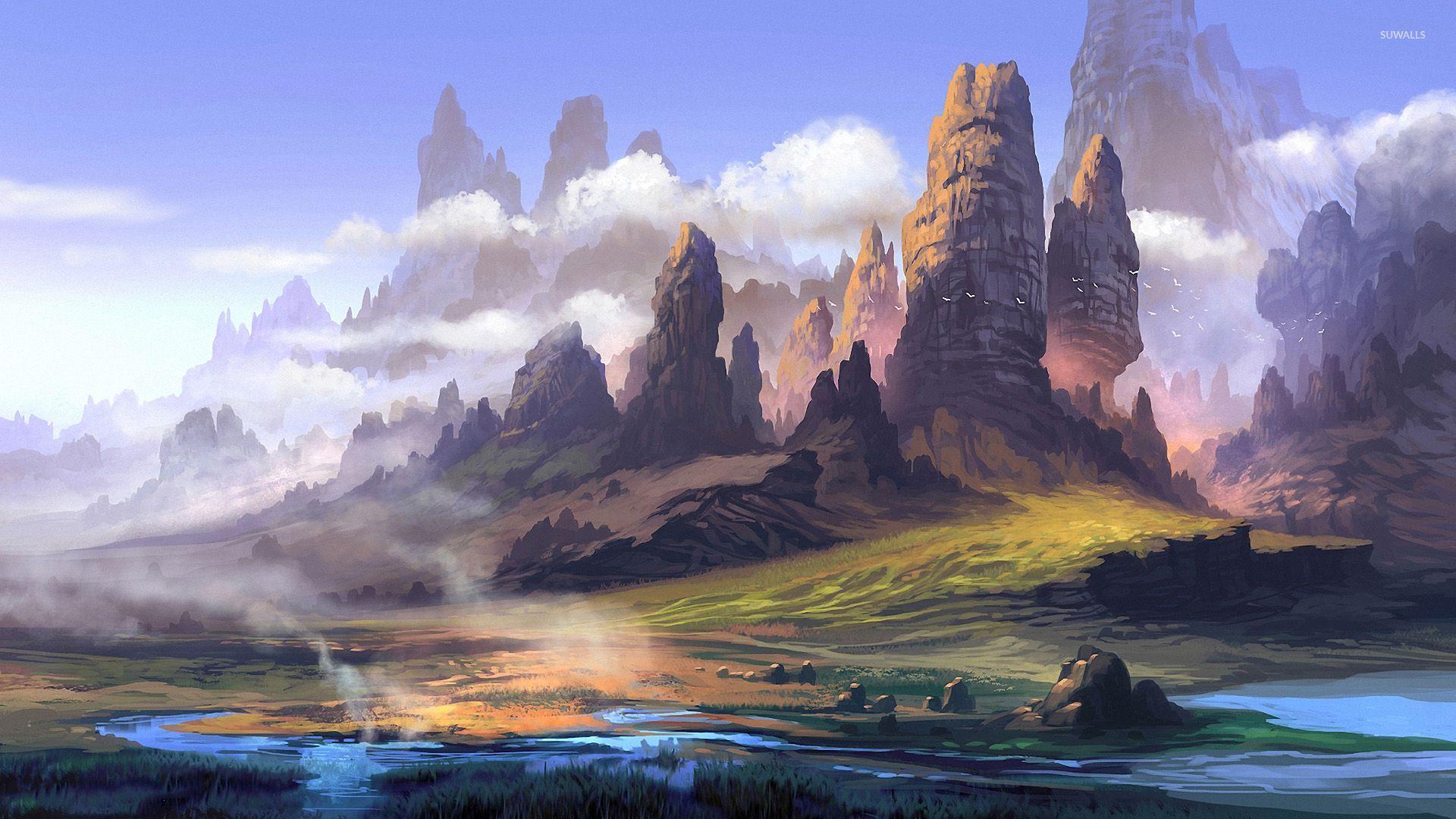 Fantastic Wallpaper Mountain Windows 10 - rocky-peaks-reaching-to-the-clouds-47052-1920x1080  Snapshot_597691.jpg