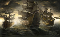 Sailing ships wallpaper 2560x1600 jpg
