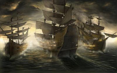 Sailing ships wallpaper