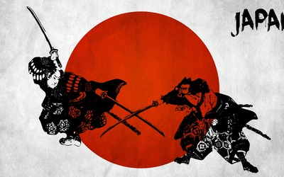 Samurai fighting wallpaper