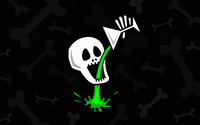 Skull drinking poison wallpaper 1920x1200 jpg