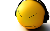 Smiley face with headphones wallpaper 1920x1200 jpg