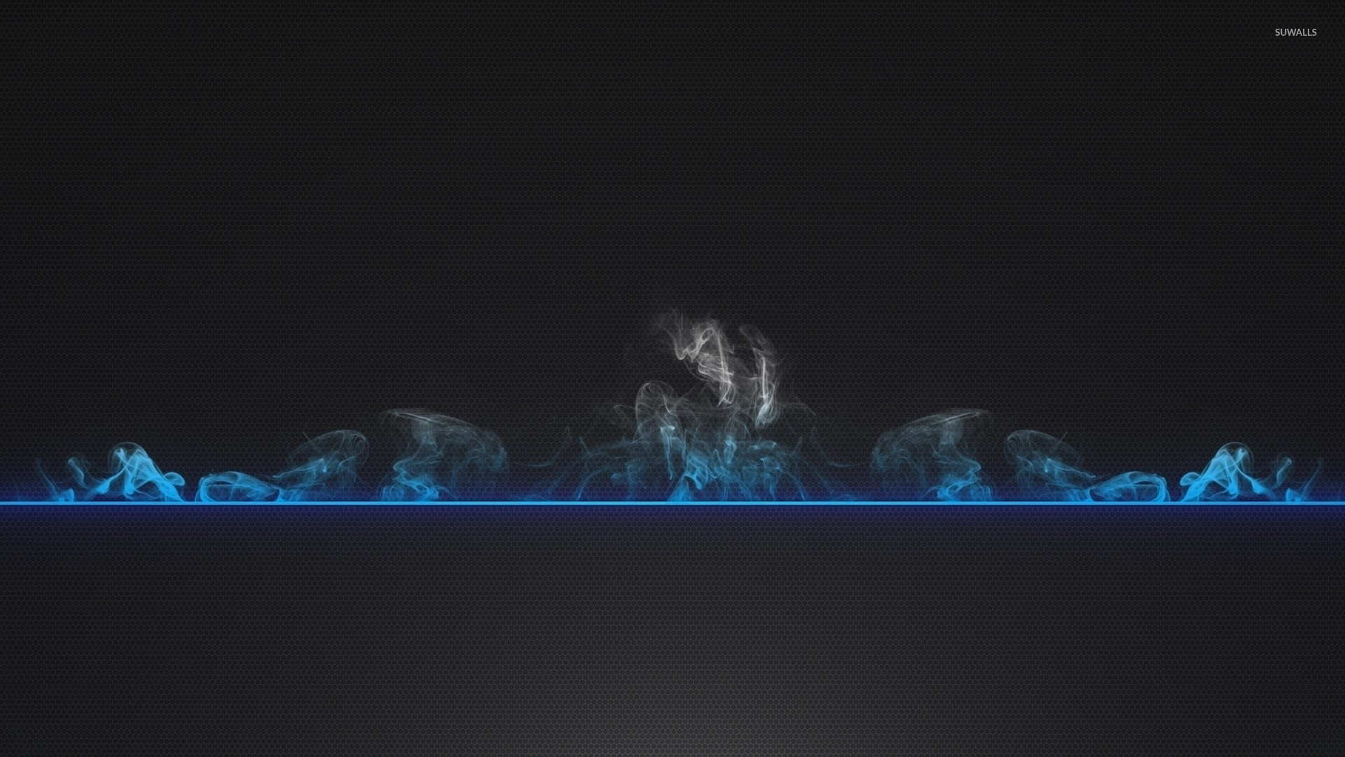 smoke rising from the blue line wallpaper - digital art wallpapers