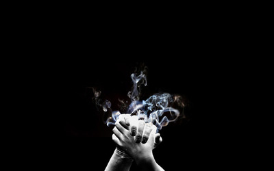 Smoking Hands wallpaper