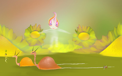 Snail race [3] wallpaper
