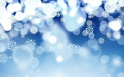 Snowflakes on top of the fading glowing dots wallpaper