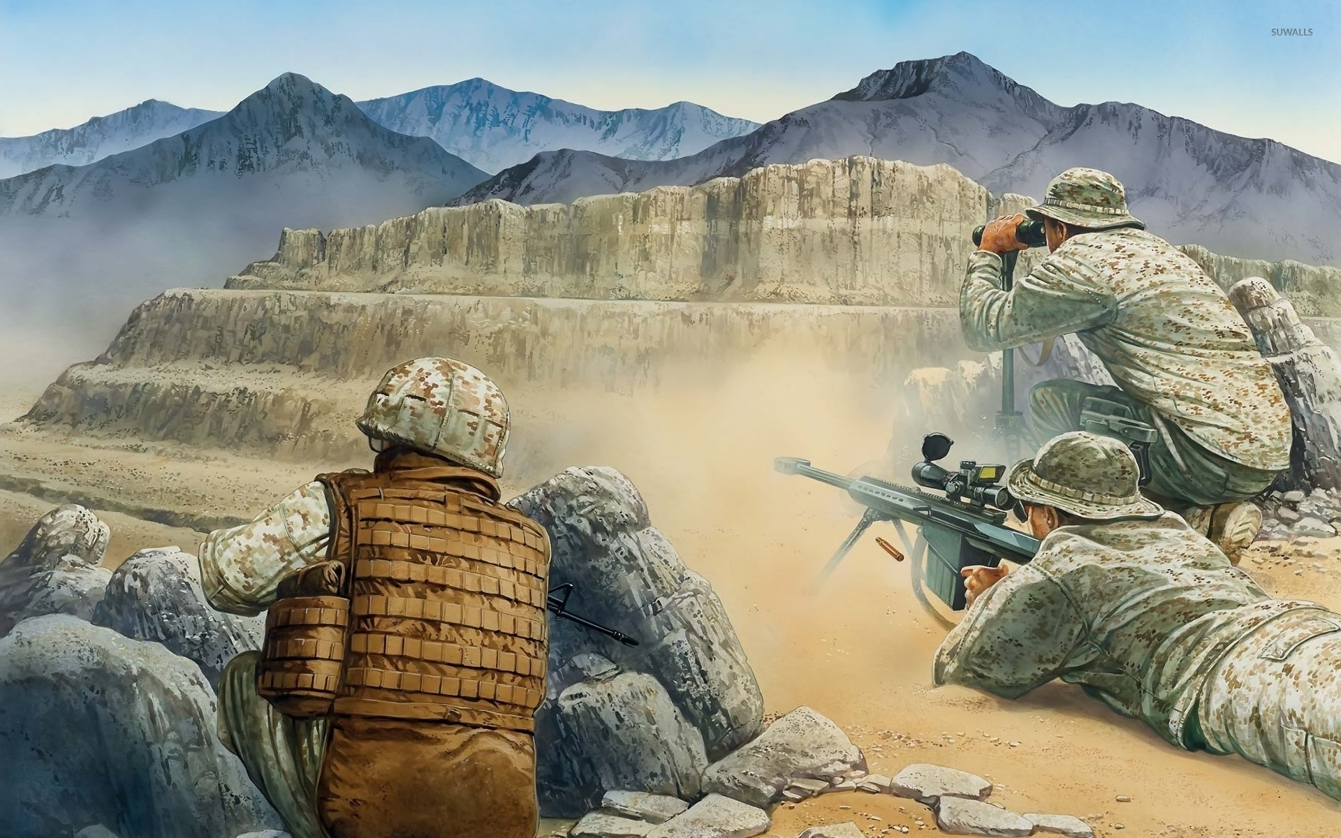 Soldiers at war wallpaper - Digital Art wallpapers - #45936