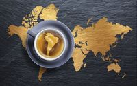 South America in coffee wallpaper 1920x1200 jpg