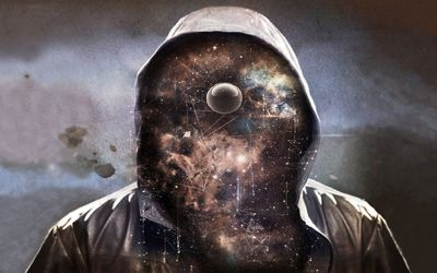 Space face with a hoodie wallpaper
