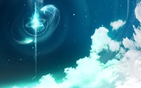Sparkly blue lights above the clouds wallpaper 1920x1080 jpg