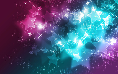 Sparkly colorful stars wallpaper