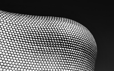 Spheres forming a wave wallpaper