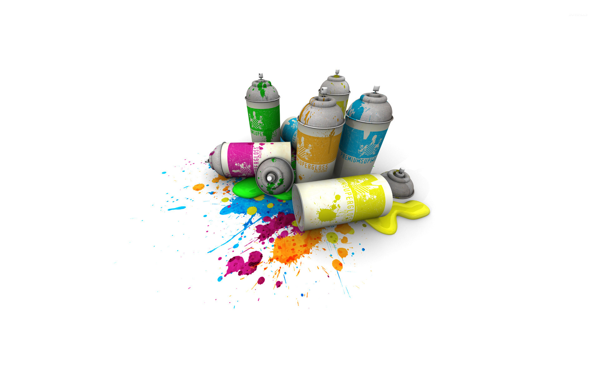Spray Paint Cans Wallpaper