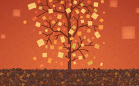 Square leaves in autumn wallpaper 2560x1440 jpg