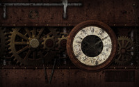 Steampunk clock wallpaper 1920x1200 jpg