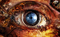 Steampunk Eye wallpaper 1920x1200 jpg