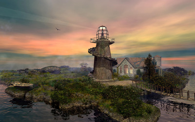 Stone lighthouse [2] wallpaper