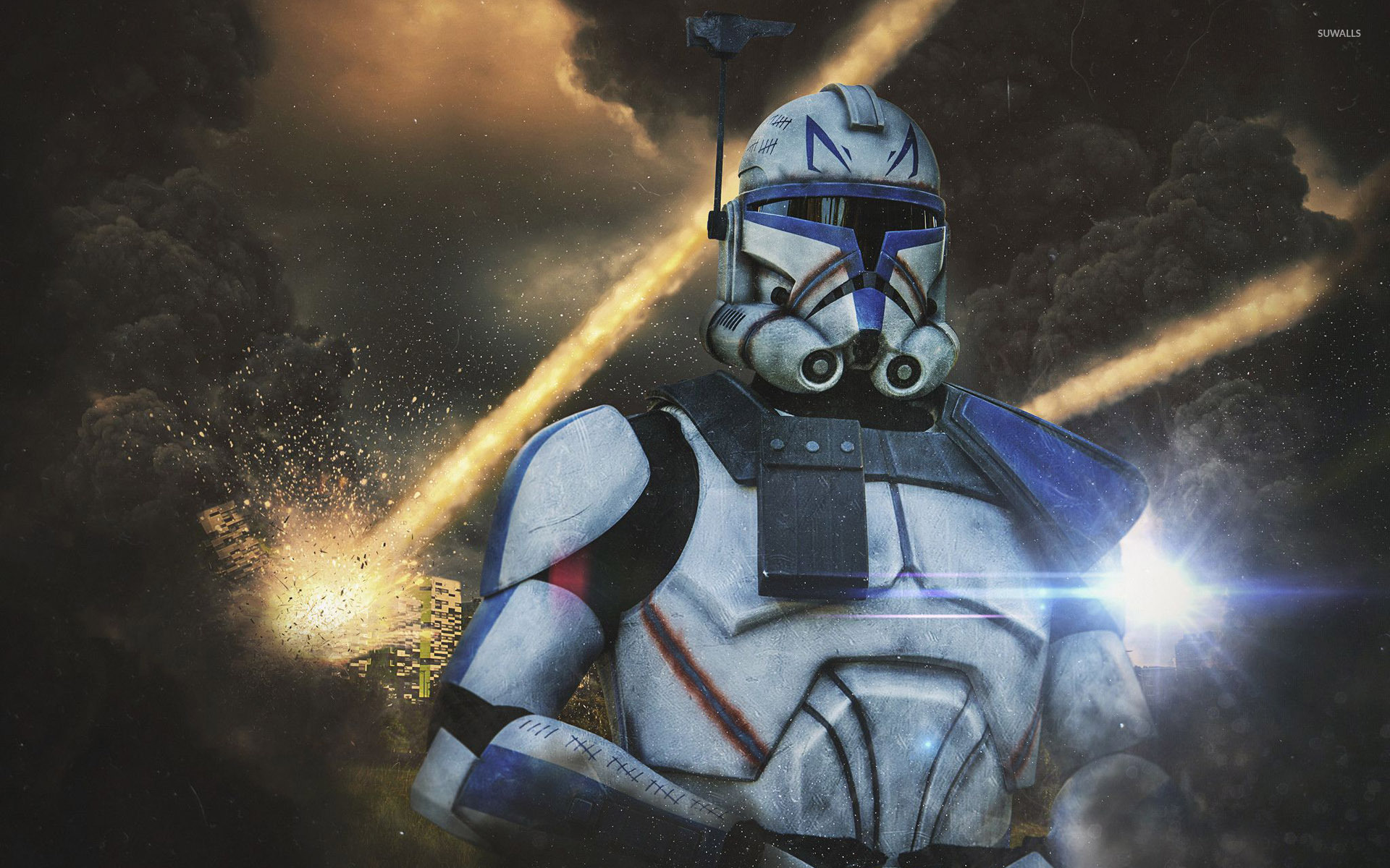 stormtrooper commander wallpaper digital art wallpapers