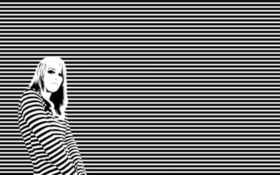 Striped girl wallpaper