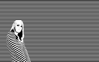 Striped girl wallpaper