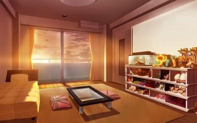 Sunset light in the bedroom wallpaper