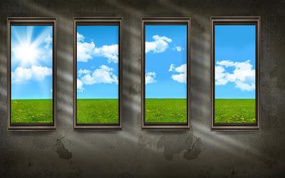 Sunshine through the windows wallpaper