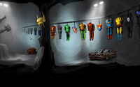 Superhero costumes hanged to dry wallpaper 1920x1080 jpg