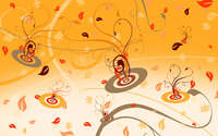 Swirls and leaves wallpaper 2880x1800 jpg