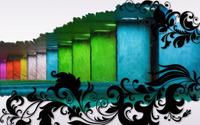 Swirls and multicolored bars wallpaper 1920x1200 jpg