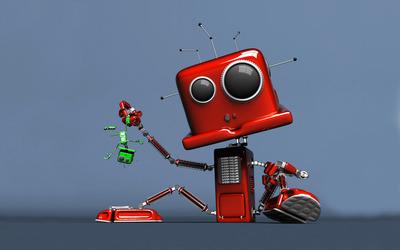 System failure robot wallpaper