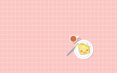 Tea and buttered toast wallpaper