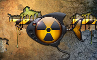 Toxic robot fish wallpaper 1920x1200 jpg